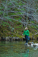 Enjoying the scenic Big Sur River, Sykes Hot Springs, Big Sur, California.