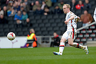 MK Dons Midfielder Jonny Williams during the Sky Bet Championship match between Milton Keynes Dons and Rotherham United at stadium:mk, Milton Keynes, England on 9 April 2016. Photo by Dennis Goodwin.