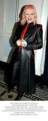 PAM HOGG at a party in London on 22nd September 2003.PMW 255