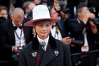 Singer Li Yuchun at the opening ceremony and Ismael's Ghosts (Les Fantômes D'ismaël) gala screening,  at the 70th Cannes Film Festival Wednesday May 17th 2017, Cannes, France. Photo credit: Doreen Kennedy