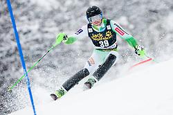 Matic Skube (SLO) competes during 1st Run of 10th Men's Slalom race of FIS Alpine Ski World Cup 55th Vitranc Cup 2016, on March 6, 2016 in Podkoren, Kranjska Gora, Slovenia. Photo by Vid Ponikvar / Sportida