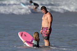 """AU_1904355 - SYDNEY, AUSTRALIA  -  *EXCLUSIVE*  -<br /> Doting Father!<br /> <br /> Luke Hemsworth pictured enjoying some time in Byron Bay on the beach in Byron Bay.<br /> <br /> Where image credits are published, """"KHAPGG"""" must be included. KHAPGG reserves the right to reverse any prior publishing or usage permissions where """"KHAPGG"""" credits have been excluded from published image credits.<br /> <br /> Pictured: Luke Hemsworth<br /> <br /> BACKGRID Australia 22 MARCH 2020 <br /> <br /> BYLINE MUST READ: KHAPGG / BACKGRID<br /> <br /> Phone: + 61 419 847 429<br /> Email:  sarah@backgrid.com.au"""