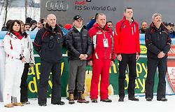 Srecko Medven, Primoz Ulaga, Metod Dragonja, Tomaz Berlocnik during the 2nd Run of 7th Men's Giant Slalom - Pokal Vitranc 2013 of FIS Alpine Ski World Cup 2012/2013, on March 9, 2013 in Vitranc, Kranjska Gora, Slovenia. (Photo By Vid Ponikvar / Sportida.com)