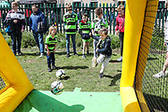 Young FGR supporters during the EFL Sky Bet League 2 match between Forest Green Rovers and Exeter City at the New Lawn, Forest Green, United Kingdom on 4 May 2019.