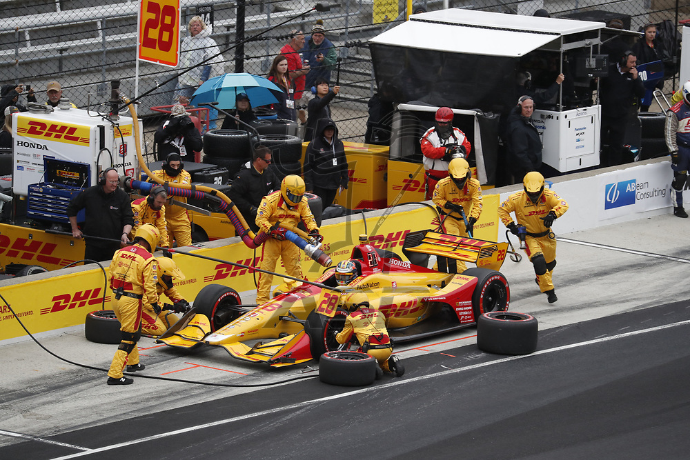 The NTT IndyCar Series teams take to the track to race for the IndyCar Grand Prix of Indianpolis at Indianapolis Motor Speedway in Indianapolis Indiana.