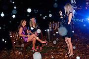 CLAUDINE EVANS; REBECCA SCHOFIELD; CHARLTTE MCGINLEYA Winter in New York. The Berkeley Square Ball. Portman sq. London. 3 December 2009