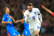 Wayne Rooney of England celebrates scoring the equalising goal - England vs. Slovenia - UEFA Euro 2016 Qualifying - Wembley Stadium - London - 15/11/2014 Pic Philip Oldham/Sportimage