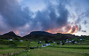 Sunrise views from Digg, near Staffin, Isle of Skye, Scotland, United Kingdom, Europe. This image was stitched from 2 overlapping photos.