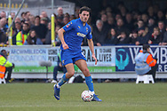 AFC Wimbledon defender Will Nightingale (5) dribbling during the The FA Cup 5th round match between AFC Wimbledon and Millwall at the Cherry Red Records Stadium, Kingston, England on 16 February 2019.