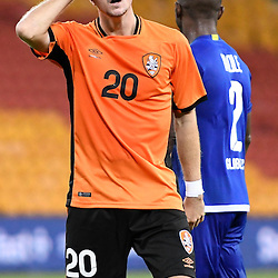 BRISBANE, AUSTRALIA - JANUARY 31: Shannon Brady of the Roar reacts to a missed shot on goal during the second qualifying round of the Asian Champions League match between the Brisbane Roar and Global FC at Suncorp Stadium on January 31, 2017 in Brisbane, Australia. (Photo by Patrick Kearney/Brisbane Roar)