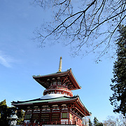 The Daitou, or Great Temple, built in 1984, stands over 58 meters tall on the top of Narita Mountain. The Narita-san temple, also known as Shinsho-Ji (New Victory Temple), is Shingon Buddhist temple complex, first established 940 in the Japanese city of Narita, east of Tokyo.