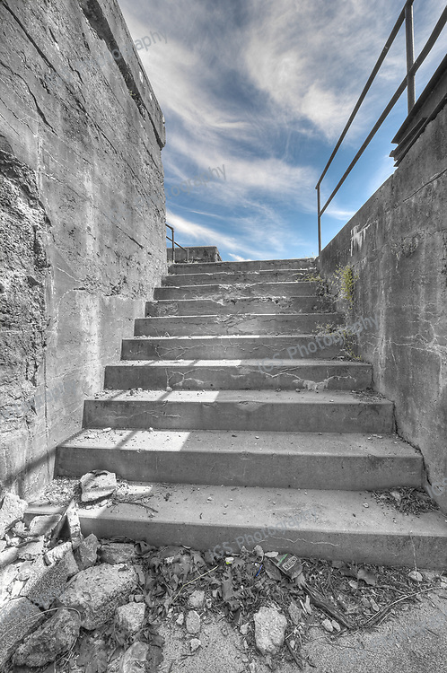 Staircase leading to Gun emplacements on the upper Parapet of Fort Washington