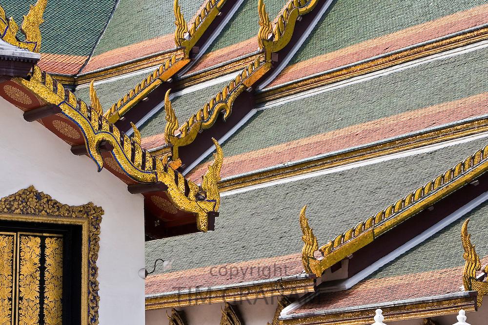 Dusit Maha Prasat Hall roof, Bangkok, Thailand