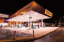Petrol station, Tesco Extra, Rotherham, Yorkshire UK