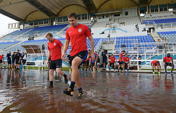 October 9, 2017 - Couva, Trinidad - Couva, Trinidad - Monday, October 9, 2017: The USMNT practice at Ato Boldon Stadium before their World Cup Qualifying match against Trinidad on Tuesday. (Credit Image: © John Todd/ISIPhotos via ZUMA Wire)