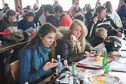 ann landsise; margerita senati; , Children and Adult ski race in aid of the Knights of Malta,  Furtschellas. St. Moritz, Switzerland. 23 January 2009 *** Local Caption *** -DO NOT ARCHIVE-© Copyright Photograph by Dafydd Jones. 248 Clapham Rd. London SW9 0PZ. Tel 0207 820 0771. www.dafjones.com.<br /> ann landsise; margerita senati; , Children and Adult ski race in aid of the Knights of Malta,  Furtschellas. St. Moritz, Switzerland. 23 January 2009