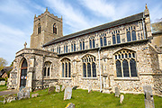 Village parish church of Saint Mary the Virgin, Bacton, Suffolk, England, UK