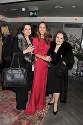 Left to right, MARIKA BRENNAN, LAVINIA BRENNAN and MARIA RITA PHILLIPS at the Beulah AW13 Showcase, Bungalow 8 LFW Pop-Up at Belgraves - A Thompson Hotel, 20 Chesham Place, London SW1 on 13th February 2013.