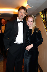 England international footballer TONY ADAMS and his wife POPPY at a dinner in aid of the BAAF (British Association for Adoption & Fostering) held at The Savoy, London on 22nd March 2005.<br />