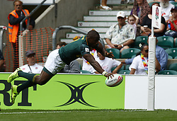 May 26, 2019 - Twickenham, England, United Kingdom - Siviwe Soyizwapi of South Africa.during The HSBC World Rugby Sevens Series 2019 London 7s Cup Quarter Final Match 29 between South Africa and Australia at Twickenham on 26 May 2019. (Credit Image: © Action Foto Sport/NurPhoto via ZUMA Press)