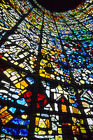 """Symphonic Sculpture"", stained glass sculpted by Gabriel Loire, Hakone Open-Air Museum, Hakone, Japan"