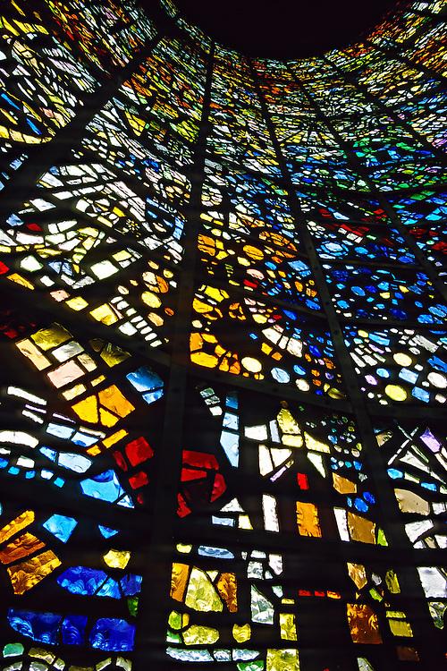 """Symphonic Sculpture"", stained glass sculpted by Gabriel Loire, Hakone Open-Air Museum, Hakone, Japan"