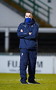 Sale Sharks Director of Rugby Alex Sanderson watches as the players warm up during a Gallagher Premiership Round 7 Rugby Union match, Friday, Jan. 29, 2021, in Leicester, United Kingdom. (Steve Flynn/Image of Sport)