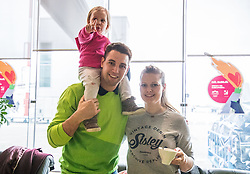 Ziga Pance with his family during departure of Slovenia Olympic Team for PyeongChang 2018, on February 6, 2018 in Airport Joze Pucnik, Brnik, Slovenia. Photo by Morgan Kristan / Sportida