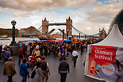 The Thames Festival is an autumn weekend celebration each September on the banks of the river Thames