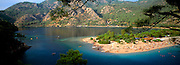 TURKEY, SOUTH COAST, MEDITERRANEAN Oludeniz; a sheltered lagoon with one of Turkey's most beautiful beaches near the city of Fethiye