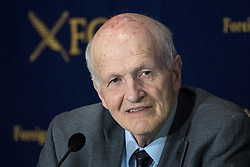 April 19, 2018 - Tokyo, Tokyo, Japan - Frank von Hippel is Senior Research Physicist and Professor of Public and International Affairs emeritus at Princeton University speaks during press conference about storing spent nuclear fuel in Japan at The Foreign Correspondant's Press Club ( FCCJ ) in Tokyo, April 19, 2018, Japan. Rather than storing spent nuclear fuel, Japan's policy has been to reprocess it to separate out the plutonium for re-use. This policy, which is unique among non-nuclear weapons states, has generated concerns from a variety of sources. Frank von Hippel, believes that Japan should be disposing of its plutonium rather than reprocessing it. These policies have particular implications for the Rokkasho plant under construction in Aomori Prefecture, long delayed but now expected to be completed by early 2022. (Credit Image: © Alessandro Di Ciommo/NurPhoto via ZUMA Press)