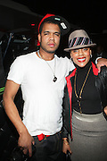 l to r: Johnny Nunez and Dominque Andriese at The Jamie Foxx's Album Release Party for Intuition, Sponsored by Vibe Magazine & Patron Tequila held at Home on December 17, 2008 in New York City..