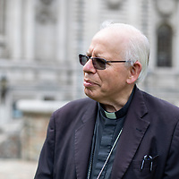 Catholic Bishop Paul Hendricks at Methodist Central Hall at a prayer meeting of the ecumenical group Christian Climate Action during protests urging the government to take urgent action on climate change.