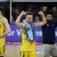 Alba Berlin jubelt über den Finaleinzug<br /> #15 Martin Hermannsson von Alba Berlin   <br /> Basketball, nph0001 1.Bundesliga BBL-Finalturnier 2020.<br /> Halbfinale Spiel 2 am 24.06.2020.<br /> <br /> Alba Berlin vs EWE Baskets Oldenburg <br /> Audi Dome<br /> <br /> Foto: Christina Pahnke / sampics  / POOL / nordphoto<br /> <br /> National and international News-Agencies OUT - Editorial Use ONLY
