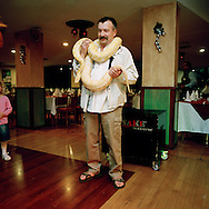 Snake Show at a hotel in Puerto Rico, Gran Canaria, Spain.<br /> Photo by Knut Egil Wang/Moment/INSTITUTE
