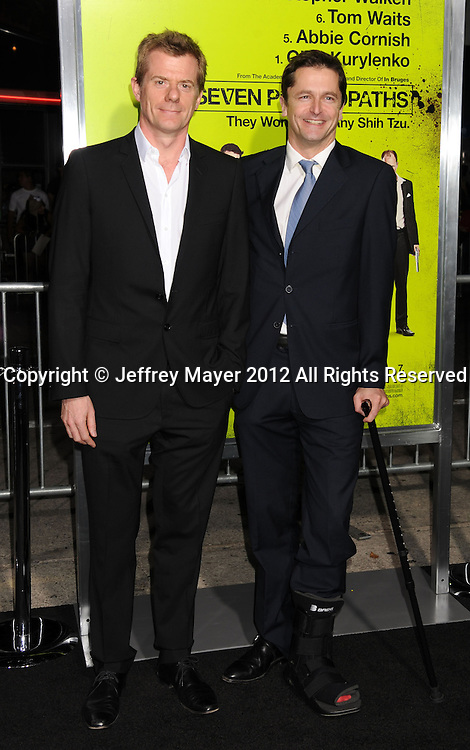 WESTWOOD, CA - OCTOBER 01: Graham Broadbent and Peter Czernin arrive at the Los Angeles premiere of 'Seven Psychopaths' at Mann Bruin Theatre on October 1, 2012 in Westwood, California.