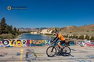 Joe Grabowski gravel bike riding from Polson to Hot Springs, Montana on Sloan Bridge, USA model released