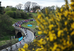 (c) Licensed to London News Pictures. <br /> 28/04/2017<br /> Goathland, UK<br /> <br /> Riders taking part in the Tour de Yorkshire cycling race pass through Goathland on Stage 1 of the three stage race.<br /> <br /> Photo Credit: Ian Forsyth/LNP