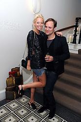 The HON.SOPHIA HESKETH and shoe designer NICHOLAS KIRKWOOD at Vogue's Celebation of Fashion dinner held at The Albermarle, Brown's Hotel, Albermarle Street, London on 18th September 2008.
