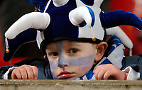 Photo: Ed Godden.<br />Manchester United v Wigan Athletic. The Carling Cup Final. 26/02/2006. Young Wigan fan can't believe the score.
