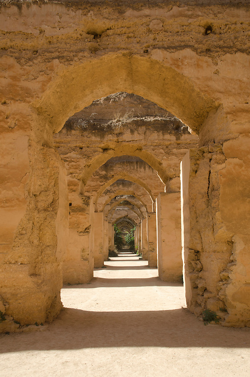Heri es Souani, the grainstore stables Meknes Morocco