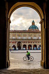 Entrance arch to the Biblioteca Salaborsa, Piazza del Nettuno, Bologna, Italy<br /> <br /> (c) Andrew Wilson | Edinburgh Elite media