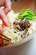 Preperation of bibimbap by chef and Food Director Mrs Soo Jin Kim, 61, at the Food and Culture Academy in Seoul, South Korea. (푸드앤컬쳐 아카데미)