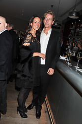 ALEX PAKENHAM and NICK POULTON at a dinner hosted by Marlon & Nadya Abela at Cassis 232-236 Brompton Road, London to thank customers & friends for their custom held on 9th February 2012.