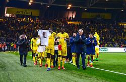 January 31, 2019 - Nantes, France - Ambiance - Hommage a Emiliano Sala - KOLO MUANI Randal ( Nantes ) - HALILHODZIC Vahid  (Credit Image: © Panoramic via ZUMA Press)