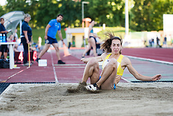Eva Pepelnak competes in Women's triple jump during day one of the 2020 Slovenian Cup in ZAK Stadium on July 4, 2020 in Ljubljana, Slovenia. Photo by Grega Valancic / Sportida
