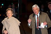 Viering  van de 75ste verjaardag van Pieter Van Vollenhoven in het Beatrix theater, Utrecht<br /> <br /> Celebrating the 75th anniversary of Pieter Van Vollenhoven in the Beatrix Theater, Utrecht<br /> <br /> Op de foto / On the photo:  Dries van Agt en partner