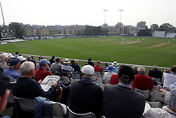 General view of spectators reading about the Ben Stokes arrest in Bristol in the newspapers during day three of the Specsavers County Championship, Division One match at the Cloudfm County Ground, Chelmsford.