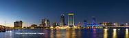 63412-01010 St. Johns River and Jacksonville Florida skyline at twilight Jacksonville, FL
