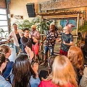 NLD/Overveen/20170330 - Gabbers presenteren nieuwe show, Jandino Asporaat, Guido Weijers, Roue Verveer en Philip Geubels met Jody Bernal